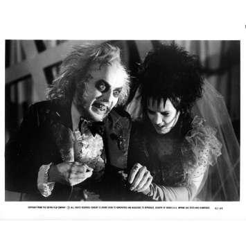 BEETLEJUICE Photo de presse BJ-69 - 20x25 cm. - 1988 - Michael Keaton, Tim Burton