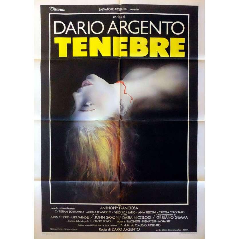 TENEBRAE Italian Movie Poster 100x140 - 1982 - Dario Argento, Anthony Franciosa