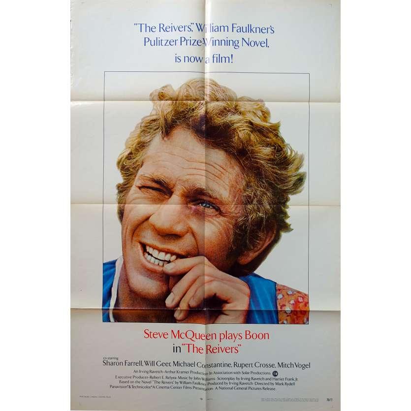 THE REIVERS Original Movie Poster - 27x40 in. - 1969 - Mark Rydell, Steve McQueen