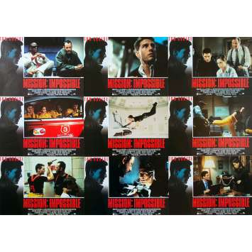MISSION IMPOSSIBLE Original Lobby Cards x9 - 9x12 in. - 1996 - Brain de Palma, Tom Cruise