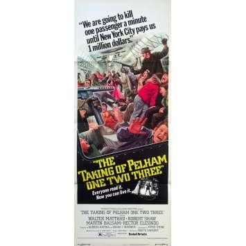 THE TAKING OF PELHMAN 123 Original Movie Poster - 14x36 in. - 1974 - Joseph Sargent, Walter Matthau, Robert Shaw