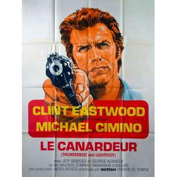 LE CANARDEUR Affiche de film - 120x160 cm. - 1974 - Clint Eastwood, Michael Cimino