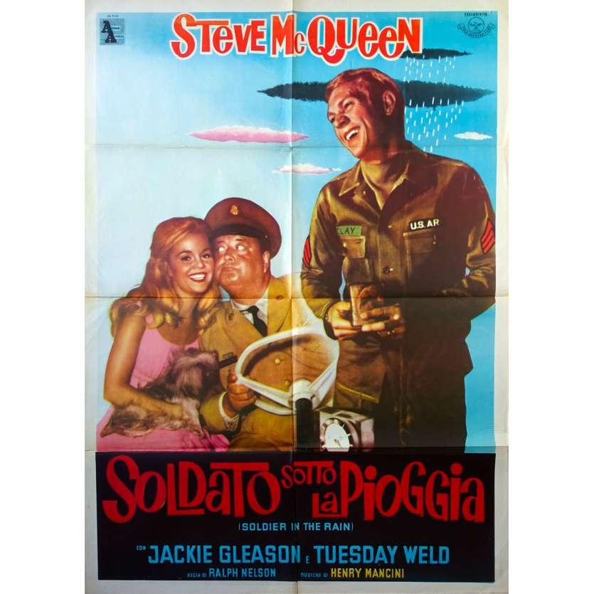 SOLDIER IN THE RAIN Original Movie Poster - 39x55 in. - 1963 - Ralph Nelson, Steve McQueen