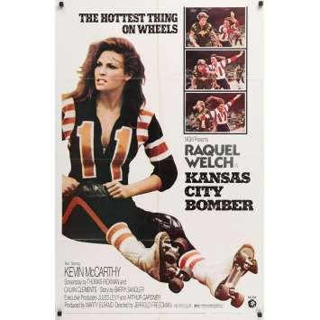 KANSAS CITY BOMBER Original Movie Poster - 27x40 in. - 1972 - Jerrold Freedman, Raquel Welch