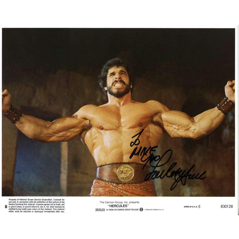 HERCULES Original Signed Photo - 8x10 in. - 1983 - Luigi Cozzi, Lou Ferrigno