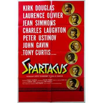 SPARTACUS Original Movie Poster Roadshow - 27x40 in. - 1960 - Stanley Kubrick, Kirk Douglas