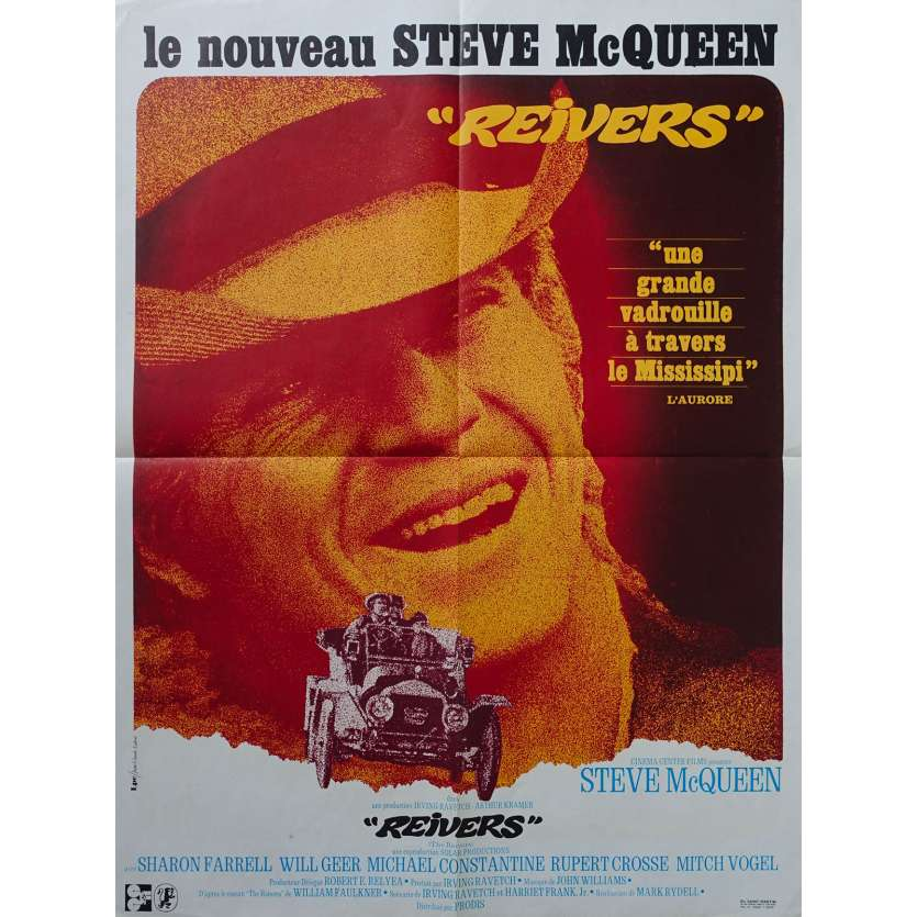 THE REIVERS Original Movie Poster - 23x32 in. - 1969 - Mark Rydell, Steve McQueen