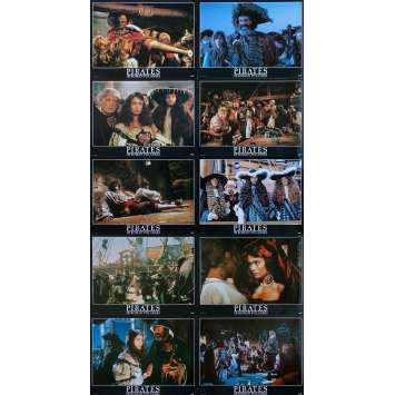 PIRATES Original Lobby Cards Set B - x10 - 12x15 in. - 1986 - Roman Polanski, Walter Matthau
