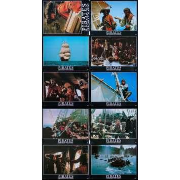 PIRATES Original Lobby Cards Set A - x10 - 12x15 in. - 1986 - Roman Polanski, Walter Matthau