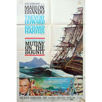 MUTINY ON THE BOUNTY Original Movie Poster - 27x40 in. - 1962 - Lewis Milestone, Marlon Brando