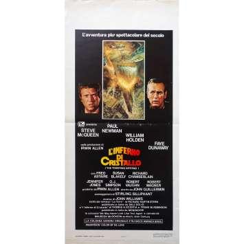 LA TOUR INFERNALE Affiche de film - 33x71 cm. - 1974 - Steve McQueen, John Guillermin
