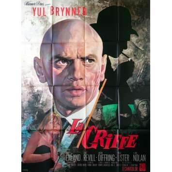 LA GRIFFE Affiche de film - 120x160 cm. - 1967 - Yul Brynner, Franklin J. Schaffner