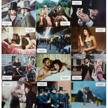 GREAT TRAIN ROBBERY Original Lobby Cards x12 - 9x12 in. - 1979 - Michael Crichton, Sean Connery