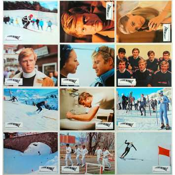 DOWNHILL RACER Original Lobby Cards x12 - 9x12 in. - 1969 - Michael Ritchie, Robert Redford