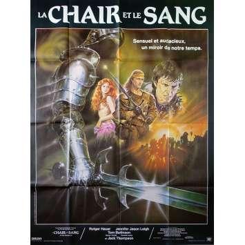 LA CHAIR ET LE SANG Affiche de film - 120x160 cm. - 1985 - Rutger hauer, Paul Verhoeven