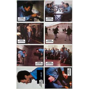 ESCAPE FROM ALCATRAZ Original Lobby Cards x8 - 9x12 in. - 1979 - Don Siegel, Clint Eastwood