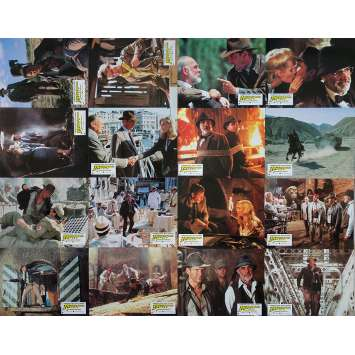 INDIANA JONES AND THE LAST CRUSADE Original Lobby Cards x16 - 9x12 in. - 1989 - Steven Spielberg, Harrison Ford