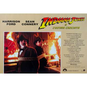INDIANA JONES ET LA DERNIERE CROISADE Photobusta N02 - 46x64 cm. - 1989 - Harrison Ford, Steven Spielberg