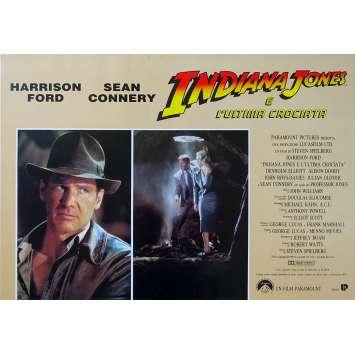 INDIANA JONES AND THE LAST CRUSADE Original Photobusta Poster N01 - 18x26 in. - 1989 - Steven Spielberg, Harrison Ford