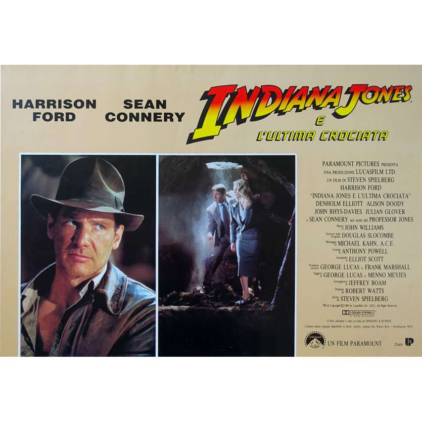 INDIANA JONES AND THE LAST CRUSADE Original Photobusta Poster N01 - 18x26 in. - 1989 - Steven Spielberg, Harrison Ford