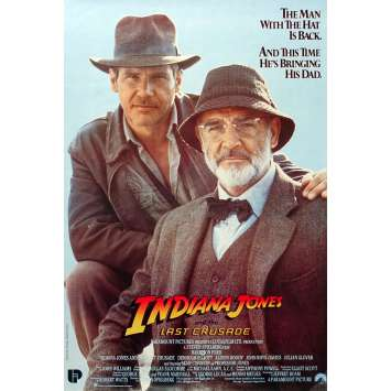 INDIANA JONES AND THE LAST CRUSADE Original Movie Poster - 13x19 in. - 1989 - Steven Spielberg, Harrison Ford