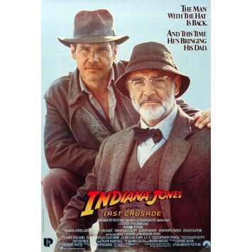 INDIANA JONES ET LA DERNIERE CROISADE Affiche de film - 32x49 cm. - 1989 - Harrison Ford, Steven Spielberg