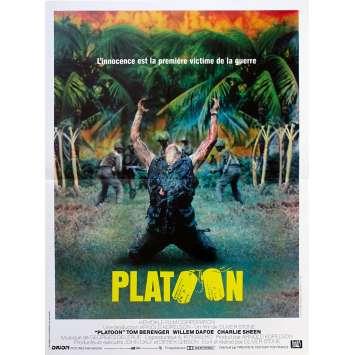 PLATOON Affiche de film - 40x60 cm. - 1986 - Willem Dafoe, Oliver Stone