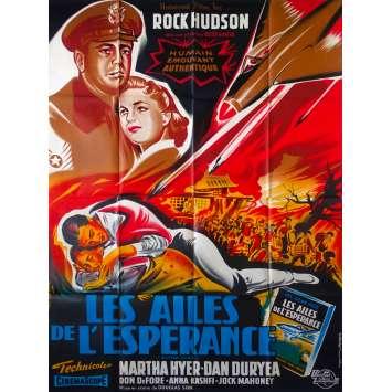 BATTLE HYMN Original Movie Poster - 47x63 in. - 1957 - Douglas Sirk, Rock Hudson