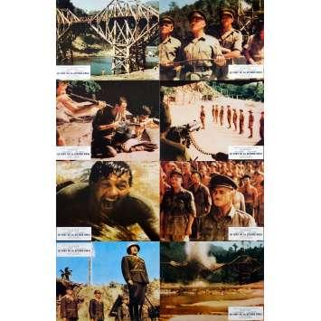 LE PONT DE LA RIVIERE KWAI Photos de film x8 - 21x30 cm. - 1957 - William Holden, David Lean