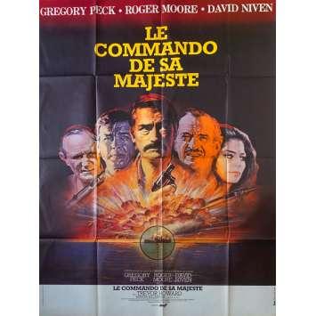 LE COMMANDO DE SA MAJESTE Affiche de film - 120x160 cm. - 1980 - Roger Moore, Andrew V. McLaglen