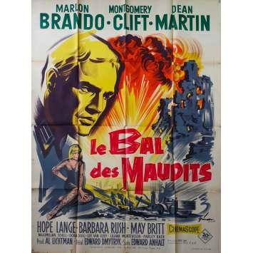 LE BAL DES MAUDITS Affiche de film - 120x160 cm. - 1958 - Marlon Brando, Edward Dmytryk