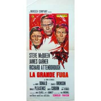 LA GRANDE EVASION Affiche de film - 33x71 cm. - 1963 - Steve McQueen, John Sturges