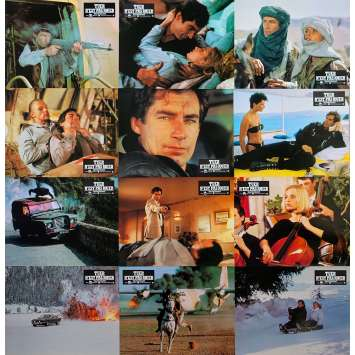 THE LIVING DAYLIGHTS Original Lobby Cards x12 - 9x12 in. - 1987 - John Glen, Timothy Dalton