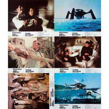 THE SPY WHO LOVED ME Original Lobby Cards x6 - 9x12 in. - 1977 - Lewis Gilbert, Roger Moore