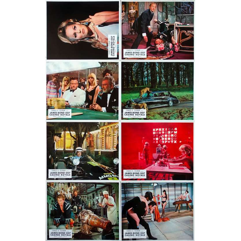 CASINO ROYALE Original Lobby Cards Set A - x8 - 9x12 in. - 1967 - Val Guest, Peter Sellers