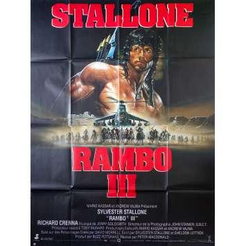 RAMBO 3 Affiche de film 120x160 cm - 1988 - Richard Crenna, Sylvester Stallone