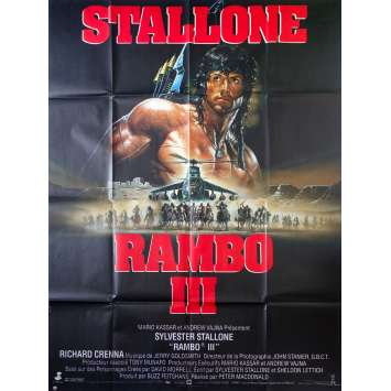 RAMBO 3 Movie Poster 47x63 in. French - 1988 - Sylvester Stallone, Richard Crenna