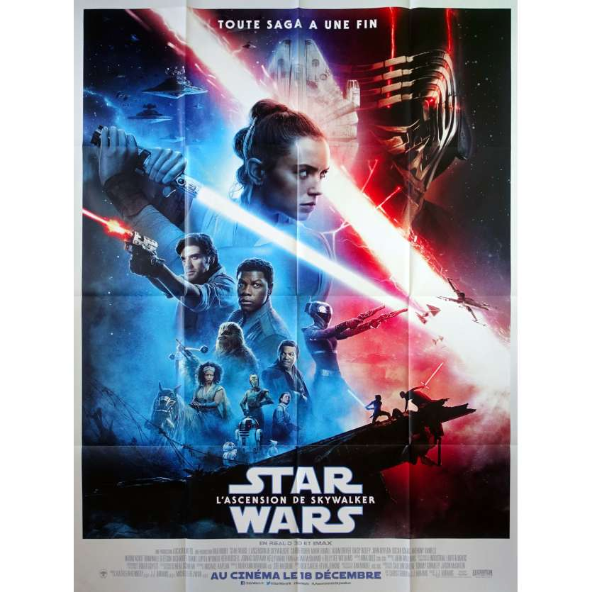 STAR WARS - THE RISE OF SKYWALKER IX 9 Original Movie Poster Def. - 47x63 in. - 2019 - J.J. Abrams, Daisy Ridley