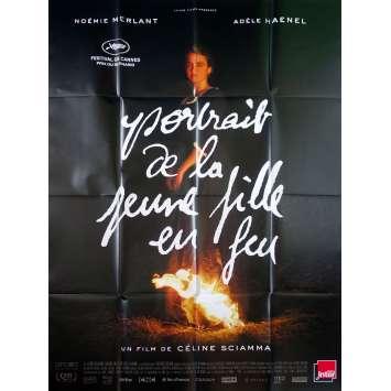 PORTRAIT DE LA JEUNE FILLE EN FEU Affiche de film - 120x160 cm. - 2019 - Adèle Haenel, Céline Sciamma