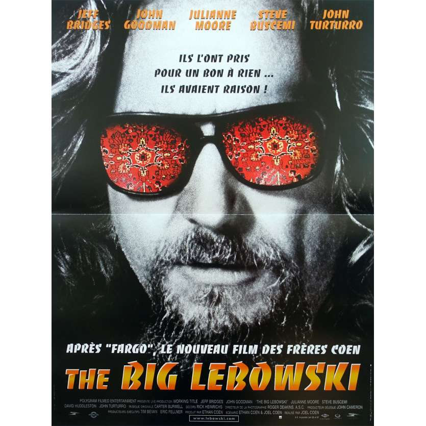 THE BIG LEBOWSKI Original Movie Poster - 15x21 in. - 1998 - Joel Coen, Jeff Bridges