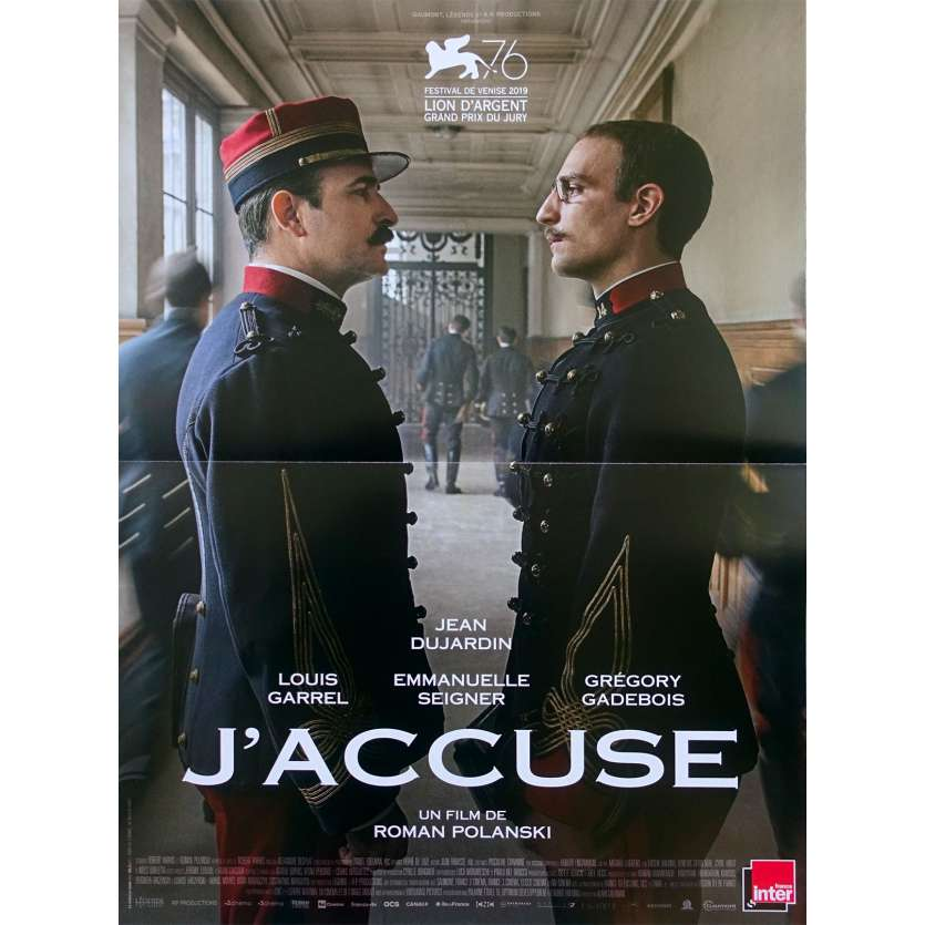AN OFFICER AND A SPY Original Movie Poster - 15x21 in. - 2019 - Roman Polanski, Jean Dujardin