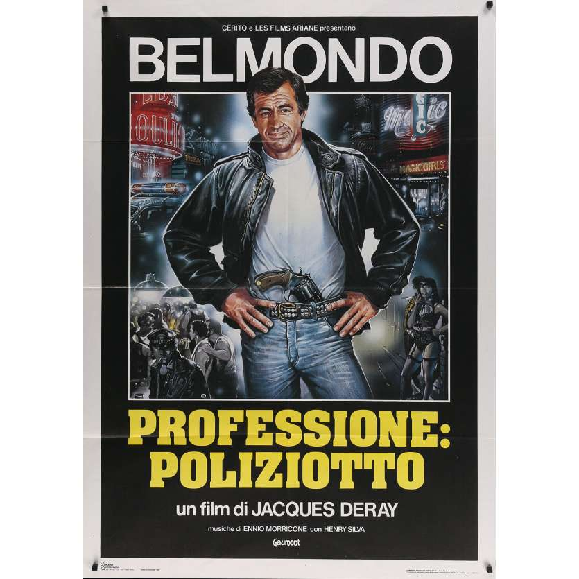 THE OUTSIDER Italian Movie Poster - 39x55 in. - 1983 - Jacques Deray, Jean-Paul Belmondo
