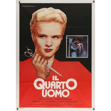 THE 4TH MAN Italian Movie Poster - 39x55 in. - 1983 - Paul Verhoeven, Jeroen Krabbé