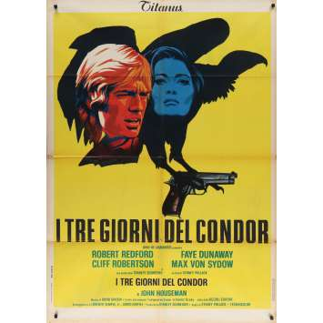 THE 3 DAYS OF THE CONDOR Italian Movie Poster - 39x55 in. - 1975 - Sydney Pollack, Robert Redford