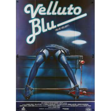 BLUE VELVET Italian Movie Poster - 55x70 in. - 1986 - David Lynch, Isabella Rosselini