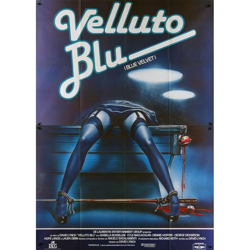 BLUE VELVET Italian Movie Poster - 55x70 in. - 1986 - David Lynch, Isabella Rosselini