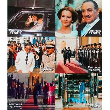 CENTO GIORNI A PALERMO French Lobby Cards x6 - 9x12 in. - 1984 - Giuseppe Ferrara, Lino Ventura