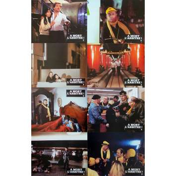 A MORT L'ARBITRE! French Lobby Cards x8 - Jeu A - 9x12 in. - 1984 - Jean-Pierre Mocky, Michel Serrault