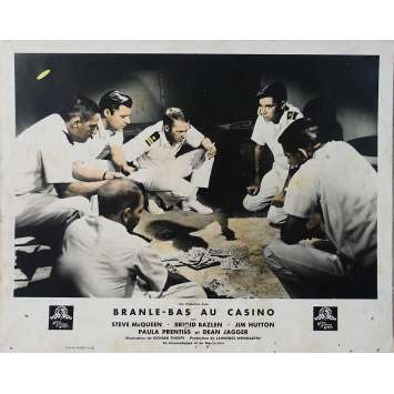 BRANLE BAS AU CASINO Photo de film - 21x30 cm. - 1961 - Steve McQueen, Richard Thorpe