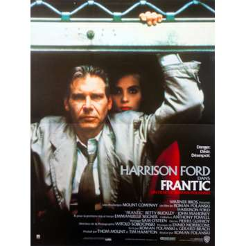 FRANTIC French Movie Poster - 15x21 in. - 1988 - Roman Polanski, Harrison Ford